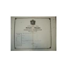 Pasaport Alexandru Ioan Cuza, Principatele Unite ale Moldovei si Valahiei, in alb 185...