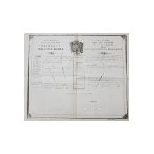 PASAPORT EMIS DE PRINCIPATUL MOLDOVEI , CETATEANULUI ISRAELIT MORTHOU CU SOTIA SI COPILUL , DATAT SEPTEMBRIE 1858