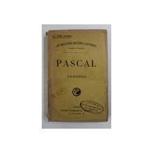 PASCAL - PENSEES , 1937, COPERTA REFACUTA