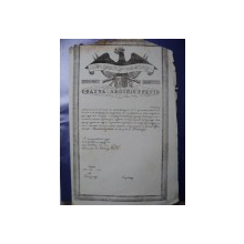 Patent de negustor in alb incepand cu anul 1830