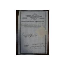 Patent de negustor Stefan Stoian din Muscel, 1846