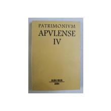 PATRIMONIUM APULENSE - ANUAR DE ARHEOLOGIE , ISTORIE , CULTURA , ETNOGRAFIE , MUZEOLOGIE , CONSERVARE , RESTAURARE VOL. IV , 2004