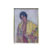 PAUL MOLDA (1884 - 1955 ) - PORTRET DE FEMEIE