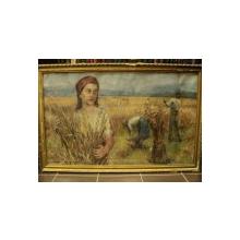 Paul Molda - Seceriş, ulei pe hârtie, 72 x 118 cm
