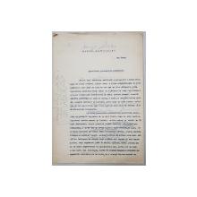 PEISAJE PETROLIFERE  de GEO BOGZA  -  MANUSCRIS DACTILOGRAFIAT CU CORECTURI OLOGRAFE ALE AUTORULUI , ADRESAT ZIARULUI   - VREMEA  -  DATAT 4  FEBRUARIE 1934