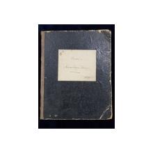 Peosii - Caiet manuscris Alexandrescu Eleonora - 1868/9