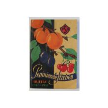 PEPINIERELE STIRBEY - BUFTEA 1937 - 1938 , CATALOG DE PREZENTARE , 1938