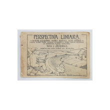PERSPECTIVA LINIARA  - NOTIUNI ELEMENTARE PENTRU DESENUL DUPA NATURA  - MANUAL ALCATUIT PENTRU SCOALELE SECUNDARE de TOMA V . STEFANESCU , 1926