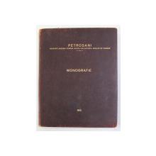 PETROSANI -  S. A. R.  PENTRU EXPLOATAREA MINELOR DE CARBUNI , MONOGRAFIE , 1925 , DEDICATIE CATRE VIRGIL MADGEARU DE LA ING. ION E. BUJOIU *