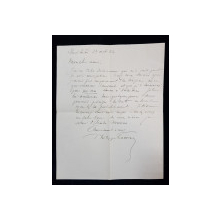 Philippe Lahovari, Scrisoare data 13 Oct 1922