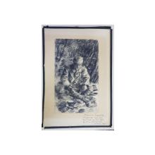 PLAISIRS DU DIMANCHE, DESEN ORIGINAL, SEMNAT POILEVIN, DATAT 1919
