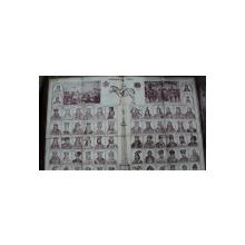 Plansa cu portretele domnitorilor de la Decebal pana la Mihai I