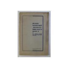 """PLASA SANITARA """" MODEL """" BREASTA - DOLJ (LUCRARE FACUTA IN 1934) de GHITEA IOSIF , 1936"""