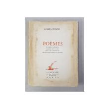 POEMES par ROGER DEVIGNE , 1956, DEDICATIE *