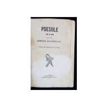POESIILE VECHI SI NOI ale D-lui DIMITRIE BOLINTINANU, SUB INGRIJIREA LUI D. G. SION - BUCURESTI, 1855
