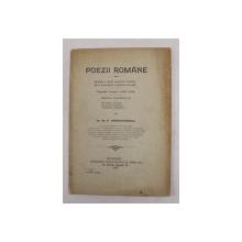 POEZII ROMANE de Dr. M.P. TRANDAFIRESCU , 1906