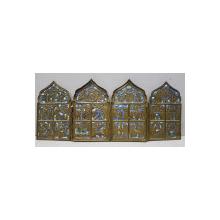 Poliptic din bronz cu aplicatii de email, Rusia secol IX. PIESA DE COLECTIE!
