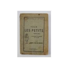 POUR LES PETITS - PREMIERE ANEE - J 'APRENDS A PARLER ET A LIRE par MARIE LASCAR - BEARDS