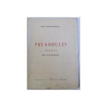 PREAMBULES POEMES - SANDU TZIGARA SAMURCAS  -1944