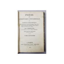 PRECIS DE L 'HISTOIRE UNIVERSELLE OU TABLEAU HISTORIQUE par ANQUETIL , TOME DOUZIEME  , 1821