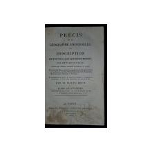 PRECIS DE LA GEOGRAPHIE UNIVERSELLE OU DESCRIPTION DE TOUTES LES PARTIES DU MONDE par M. MALTE-BRUN, TOME IV - PARIS, 1813