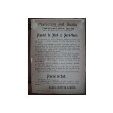 Prefectura Jud. Buzau Comunicatul oficial Nr. 79 de pe front din 1 Noembrie 1916