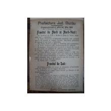 Prefectura Jud. Buzau Comunicatul oficial Nr. 80 de pe front din 2 Noembrie 1916