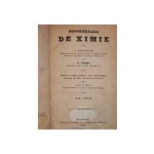 PRESCURTARE DE CHIMIE -J. PELOUZE   TOM. I-II    -BUCURESTI 1852