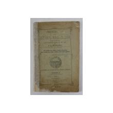 PRESCURTARE DIN ISTORIA ROMANILOR LUCRATA PENTRU ELEVII SCOLELOR PRIMARE DE AMBE SEXE de B.B. SECAREANU , 1893