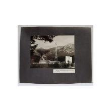 PRIMA ANTENA PENTRU TELECOMUNICATII PRIN SATELIT , FOTOGRAFIE MONOCROMA, PE HARTIE LUCIOASA , LIPIAT APE CARON , ANII  '70 - '80