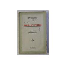 PRINCIPII DE LITERATURA - VOLUMUL I - CAPODOPERA de MIHAIL DRAGOMIRESCU , EDITIE INTERBELICA