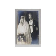 PRINTUL LOUIS PHILIPPE SI PRINTESA ELISABETH DE LUXEMBURG LA CASATORIE , FOTOGRAFIE TIP CARTE POSTALA , MONOCRIOMA , NECIRCULATA , DATATA 1922