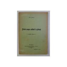 PRIVIRI ASUPRA CULTURII IN ARDEAL de ST. C. IOAN , 1907 DEDICATIE*
