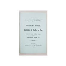 PROGRAMUL OFICIAL AL ALERGARILOR DE GARDURI SI TRAP, HIPPODROMUL CLUBULUI CALARETILOR BANEASA, INTRUNIREA DE TOAMNA 1918 - BUCURESTI. 1915