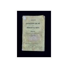 PROIECTU DE CONSTITUTIUNE PENTRU PRINCIPATELE-UNITE ALE ROMANIEI - BUCURESTI, 1860