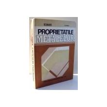 PROPRIETATILE METALELOR de M. URSACHE, D. CHIRICA , 1982