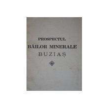 PROSPECTUL BAILOR MINERALE BUZIAS  1928