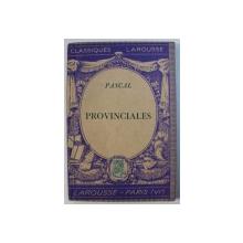 PROVINCIALES par PASCAL , 1934