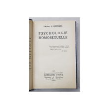 PSYCHOLOGIE HOMOSEXUELLE par Docteur A. HESNARD , 1929