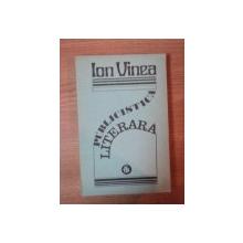 PUBLICISTICA LITERARA de ION VINEA , 1977