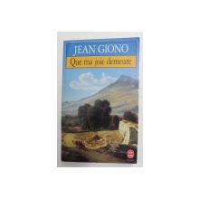QU MA JOIE DEMEURE par JEAN GIONO , 1935