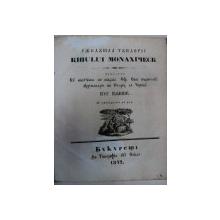 RANDUIALA TUNDERII CHIPUL MANASTIRESC- KIR KALINIK- BUCURESTI IN TIPOGRAFIA LUI ELIADE 1842