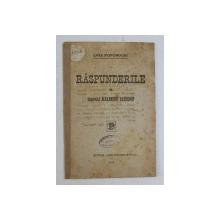 RASPUNDERILE de GENERALUL ALEXANDRU AVERESCU  - LIGA POPORULUI , 1918 , LIPSA UN COLT DIN COPERTA FATA *