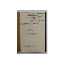 RAZBOIUL CHIMIC de LOCOTENENT COLONEL D. P. BLOCH , 1937 , DEDICATIE*