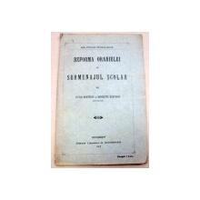 REFORMA ORARIULUI SI SURMENAJULUI SCOLAR-VICTOR SI HENRIETTA MUNTEANU  1913