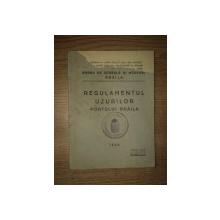 REGULAMENTUL UZURILOR PORTULUI BRAILA , 1936