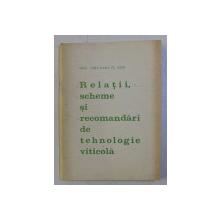 RELATII , SCHEME SI RECOMANDARI DE TEHNOLOGIE VITICOLA de JISCANU D. ION , 1973