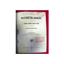 Relation des roumains Ilie Barbulescu  - IASI 1912