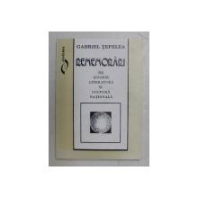 REMEMORARI DE ISTORIE , LITERATURA SI CULTURA NATIONALA de GABRIEL TEPELEA , 1994 , DEDICATIE*