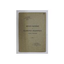 RENTA ROMANA SI ECONOMIA NATIONALA , STUDIU FINANCIAR de C. N. TEIANU , 1916